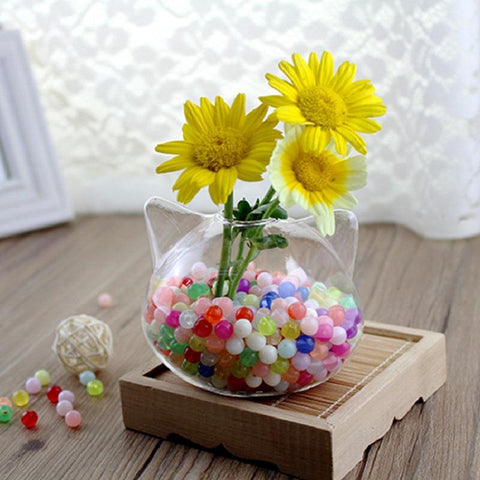 $10.08- O.Roselif Brand New Cute Handmade Cat Shaped Glass Vase Hydroponic Plant Terrarium Vase Wedding Home Office Hotel Decoration