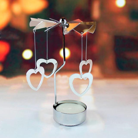 Revolving Door Windmill Rotation Candlestick Candleholder Candle Tea Light Holder Holiday Decor Romantic Candle Holders