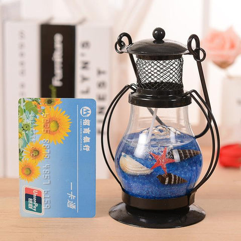 $26.11- Rt Aladdin'S Light Candlestick Retro Lantern Metal Crafts Home Restaurant Romantic Candlelight Dinner Lamps Candle Holder Decor