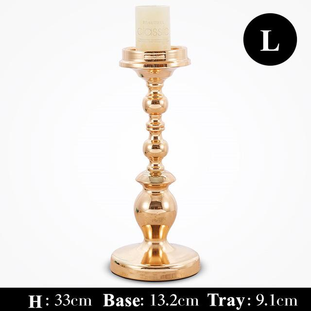 High Quality Alloy Candle Holder Gold Candle Stand Europen Wedding Candlestick Candelabra For Wedding Centerpiece Candelabra