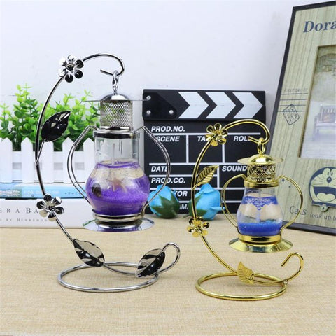 Aladdin'S Lamp Candle Holder Europe Lantern Continental Iron Candle Holders Wedding Home Decoration Candlestick