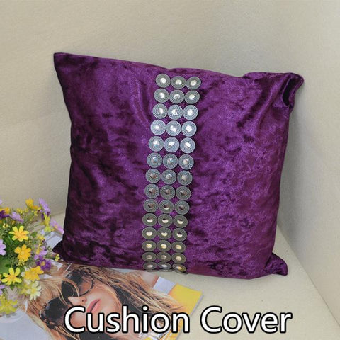 $11.40- 45Cm High Quality Fashion Luxury Velvet Fabric Soft Swan Hot Drilling Cushion Cover Pillow Case Decorate For Sofa Seat