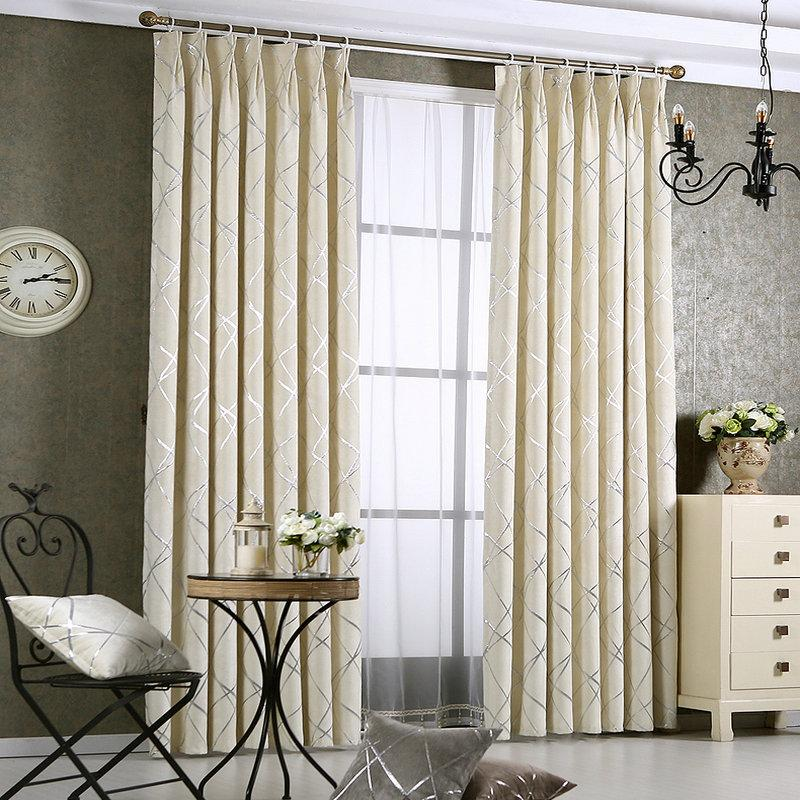 Dense Luxury Window Curtains For Living Room Bedroom Drapes Geometric Stylish Custommade Completely Blackout