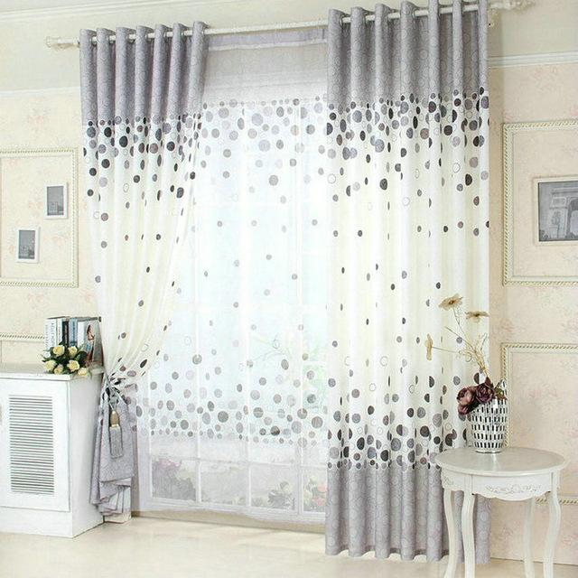 $36.13- New Arrival Blue /Green /Gray Window Curtain For Living Room Floral Kitchen Curtains For Summer
