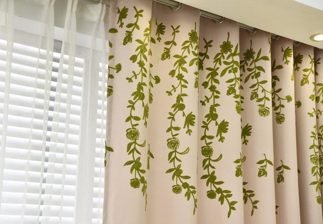Blackout Window Curtains For Living Room Kitchen Bedroom Embroidered Tulle Plant Pattern Country Styles Customized Home Decor