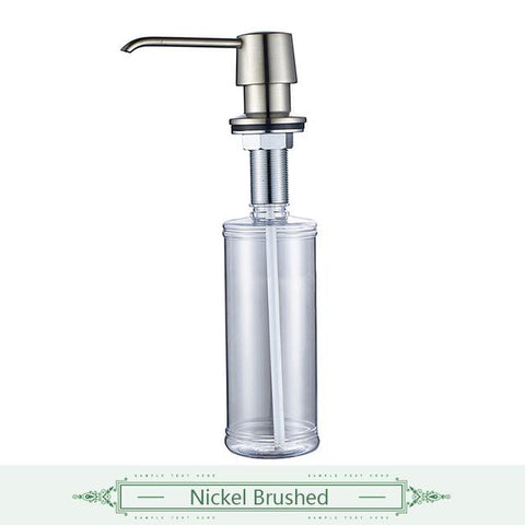 $34.18- Flg Liquid Soap Dispensers For Kitchen Sink Deck Mounted Copper&Plastic Bottle Manually Shampoo Oil Rubbed Soap Dispenser 020B