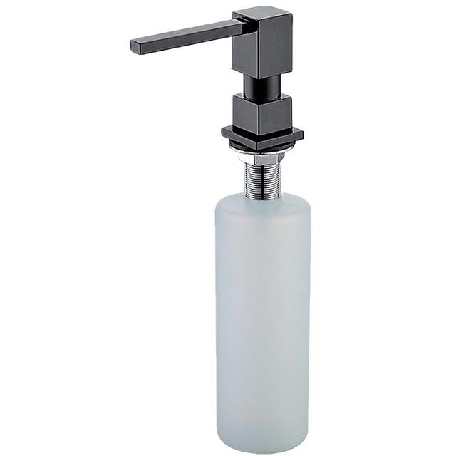 $38.63- Promotion 5 Yr Warranty Polished Gold Sink Soap Dispenser Matt Black Countertop Liquid Dish Hand Silver Soap Dispenser