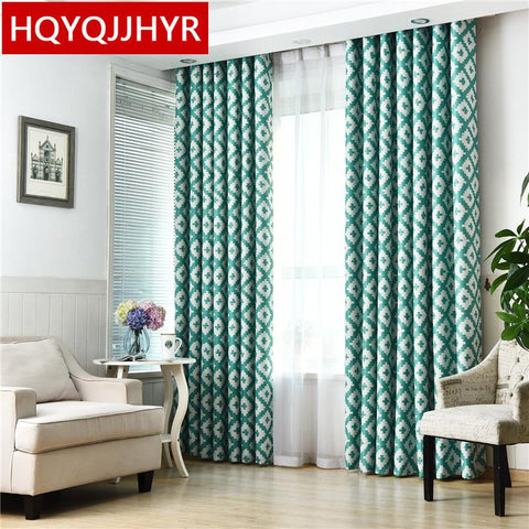 $45.90- Custommade Modern Minimalist Grill Blackout Curtains For Living Room Sheer Curtains For Bedroom Window Curtain Kitchen /Hotel