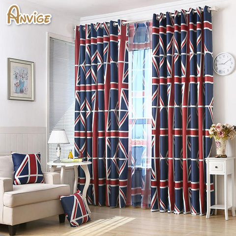 $17.50- European Blackout Children Curtains Window Curtain Decoration Draperies For Living Room Bedroom Curtain Drapes