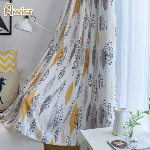 Anvige New Arrival Pastoral Fashion Half Blackout Curtains Window Treatments High Quality Custom Made Curtain Drapes