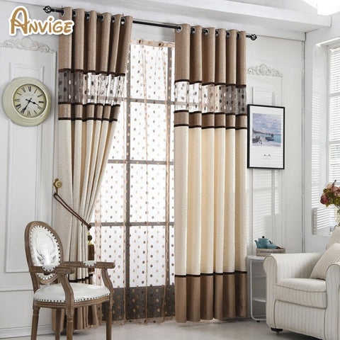 High Quality European Luxury Curtain For Bedroom Kitchen Window Treatments Curtains For Living Room Custom Made Curtain Drapes