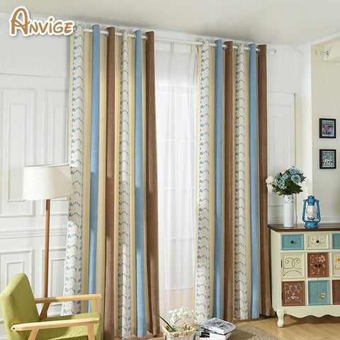 Anvige Modern Blackout Curtain Velvet Cloth Soft Feeling Window Treatments High Quality Cloth Custom Made Drapes