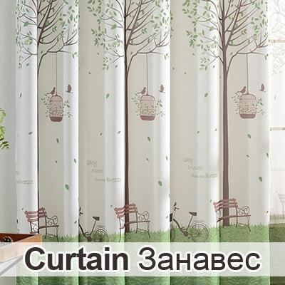 $16.34- Printed Half Blackout Curtains For Living Room Bedroom Polyester Fabrics For Curtains Window Treatments
