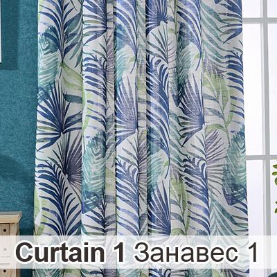 Blackout Curtain Linen/Cotton Fabric 2 Colors High Quality French Window Pastoral Floral Curtains Living Room