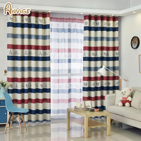 $15.01- Anvige New Modern Striped Window Treatments For Living Room Bedroom Blackout Curtains Custom Made Curtain Drapes 1 Panel