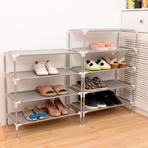 $12.14- House Scenery Living Room Furniture Portable Shoe Racks Folding Multilayer Non Woven Fabric Combination Dustproof Shoes Shelf