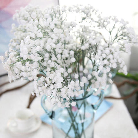 $3.34- Gypsophila Artificial Flower Baby Breath Fake Silk Floral Plant Home Wedding Party Decoration Products #Bf