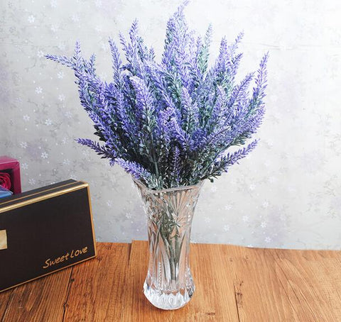 $4.40- 1Pc New Arrival Artificial Plants Plastic Spray Lavender Flowers Fake Plants For Wedding Decoration Garden 4 Colors Ma1956