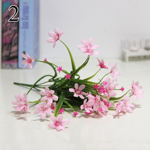 1 Bouquet 7 Branch Wedding Decoration Artificial Flower Orchid Fake Plants Table Centerpiece Home Decoration 4018
