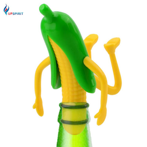 $11.48- Upspirit Corn Shape Wine Bottle Stopper Abs Rubber Band Novelty Wine Beer Champagne Stopper Keep Fresh Stopper Wine Cork Barware