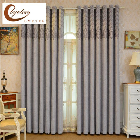 $57.73- {Byetee} New Arrival Quality Window Curtains For Living Room Luxury Bedroom Drapes Ready Made Cortina Blackout Curtain