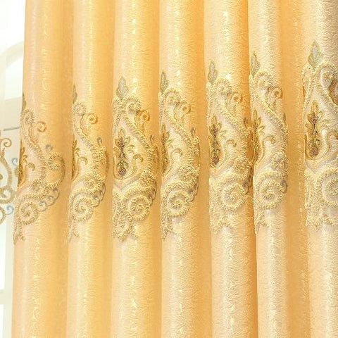 $33.64- New Custom Made Luxury Europe Embroidered Curtain For Living Room Bedroom Tulle Curtain Window Treatment Drapes Decoration