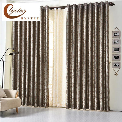 $46.66- [Byetee] European Jacquard Window Curtain Kitchen Blackout Ready Made Curtains Purple For Bedroom Modern Living Room Luxury