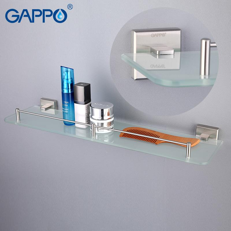 Buy GAPPO Wall Mounted Bathroom Shelves Bathroom Glass Shelf Holder - Where to buy bathroom hardware