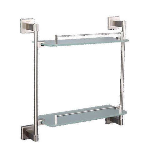 $96.14- Gappo Stainless Steel Wall Mount Bathroom Shelves Glass Shelf Holders Bath Double Layer Storage Shelf Bath Hardware Shower Stand
