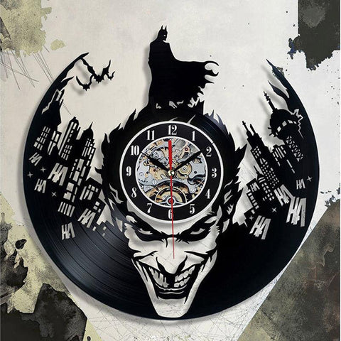 $45.67- Batman Cd Record Wall Clock Modern Design Mute Lp Vinyl Clocks Creative 3D Decorative Hanging Classic Wall Watch Art Home Decor