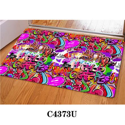 Hugsidea 3D Graffiti Prints Floor Carpet Welcome Entrance Doormat Rugs For Living Room Kitchen Bedroom Tapis Alfombras De Salon