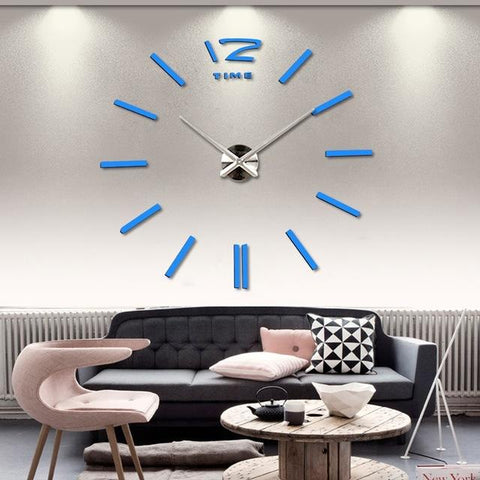 $17.58- Special Offer 3D Big Acrylic Mirror Wall Clock Brief Diy Quartz Watch Still Life Clocks Home Decoration Living Room Stickers