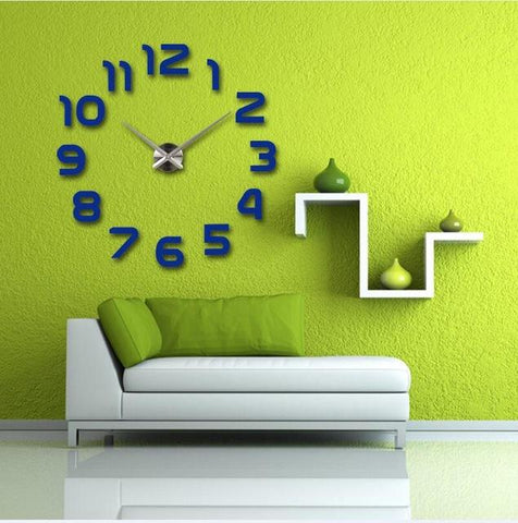 $18.38- Top Fashion 3D Wall Clock Reloj De Pared Quartz Watch Modern Diy Clocks Living Room Large Decorative Horloge Murale Stickers