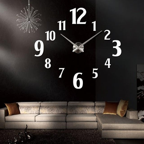 New Fashion Wall Clock Modern Quartz Watch Clocks Living Room Acrylic Mirror Clocks Home Decoration Still Life Diy Stickers