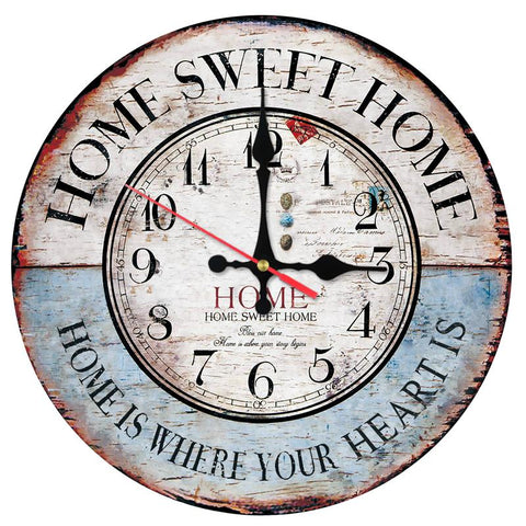 New Home Decoration Living Room Wooden Wall Clock Europe Brief Style Wall Stickers Still Life Quartz Watches