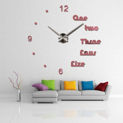 Hot Wall Clock Modern 3D Big Quartz Watch Clocks Living Room Acrylic Mirror Clocks Home Decoration Still Life Diy Stickers