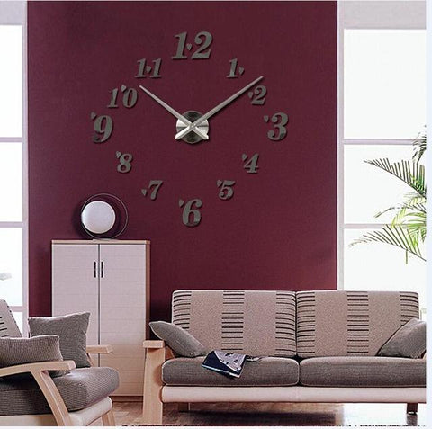 Top Fashion 3D Wall Clock Reloj De Pared Quartz Watch Brief Diy Clocks Living Room Large Decorative Horloge Murale Stickers