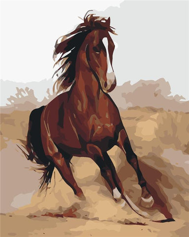 $16.09- Frameless Horse Animals Diy Painting By Numbers Unique Gift Home Decoration Wall Art Picture Acrylic Paint For Artwork 40X50Cm