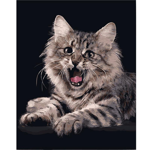$16.09- Frameless Animal Cat Diy Painting By Numbers Home Art Wall Figure Pictures For Living Room Modern Decoration Picture Artwork