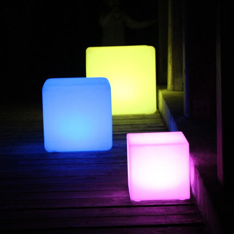 $2201.00- D40Cm Rechargeable Led Cube Seat Chair Stool Waterproof Led Table Light Stool Lighting In The Dark 10Pcs/Lot