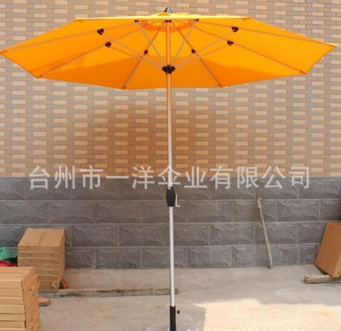 2.7M Diameter Outdoor Milan Umbrella Folding Advertising Umbrellas Portable Beach Umbrella W/ Base