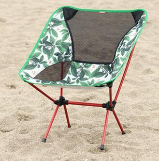 High Quality Ultralight Aviation Aluminium Comfortable Folding Outdoor Chair Breathable Moon Chair