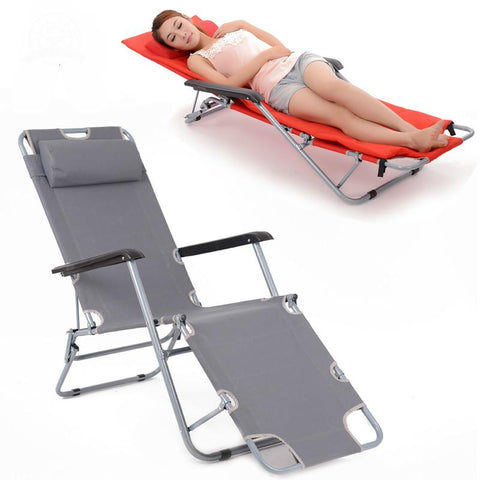 Outdoor Leisure Backrest Chair Folding Daybeds Portable Beach Chair