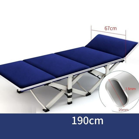 $173.52- Thousands Of Selected Single Siesta Nap Camp Bed Folding Office Cr Simple Nursing Bed Reinforcement Chaise Lounge