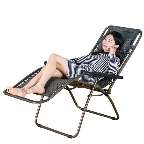 Outdoor Folding Portable Chair Lunch Nap Household Leisure Beach Chair Backrest Chair