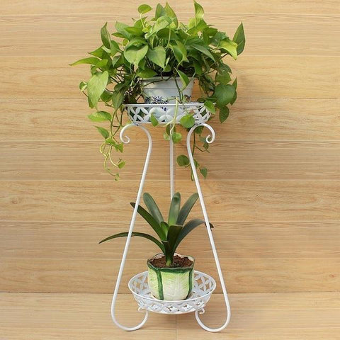 $96.59- European style modern plants garden iron metal living room indoor balcony decoration shelves green flower shelf flowerpot rack