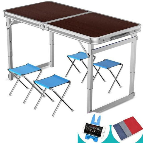 $157.22- Outdoor Dining Stall Portable Household Simple Folding Table and Chair