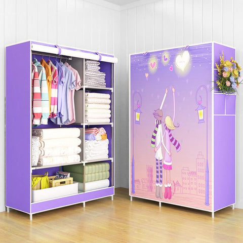 $71.98- Modern trendy fashion home bedroom furniture storage portable assembly multipurpose bedroom storage cabinets wardrobe closets