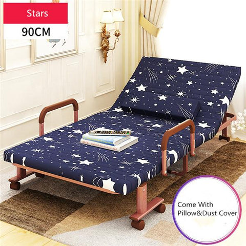 $361.35- 90Cm Wide Metal Folding Bed W/ Mattress Bedroom Furniture Rollaway Guest Bed For Adults Kids Rollaway Guest Day/Night Bed