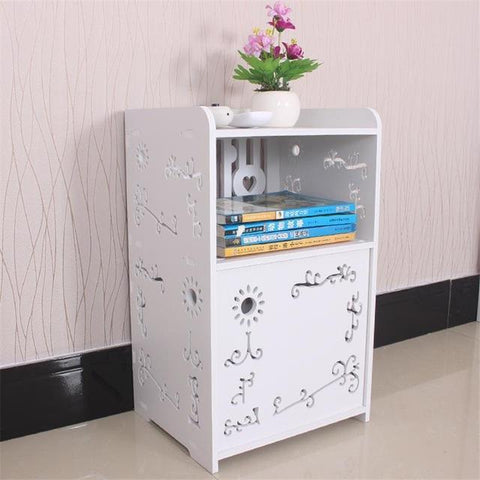 $125.55- Simple Modern Furniture Bed Storage Cabinets Lockers Dormitory Bedroom Bedside Cabinet